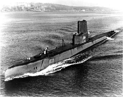 Dewey Reed's qual boat, USS Blenny (SS-324)