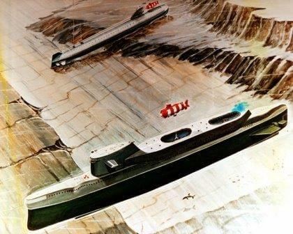 An artist conception of the use of India-class submarines.