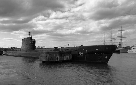 Soviet Zulu-class submarine on the surface.